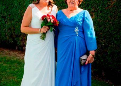 Leticia y su madre