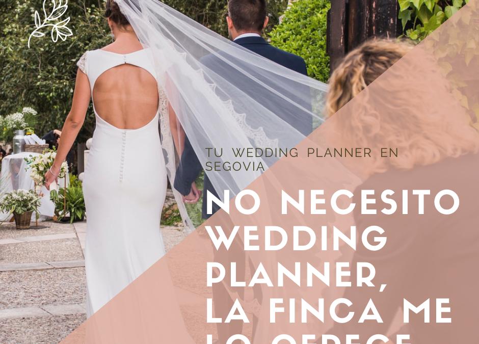No necesito Wedding Planner, la finca me lo ofrece